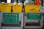 USA, Florida, Deposit area to recycle and dispose of harmful household items.