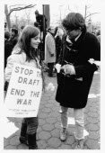 USA, New York State, New York City, Anti Vietnam war demonstrators.