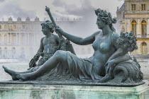 France, Ile de France, Versailles Palace, La Marne River statue Parterre d'Eau.