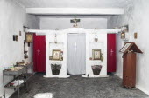 Albania, Interior of a small village Greek Orthodox church near Dhermi.
