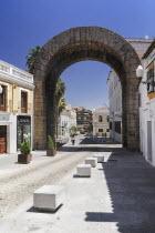 Spain, Extremadura, Merida, Trajans Arch.