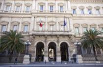 Italy, Lazio, Rome, Palazzo Koch home to the Banca D'Italia on Via Nazionale.