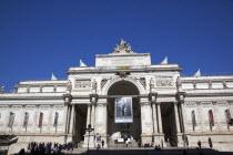 Italy, Lazio, Rome, Palazzo delle Esposizioni facade, designed by Pio Piacentini,