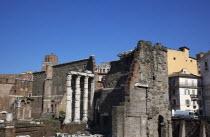 Italy, Lazio, Rome, Trajans Forum ruins.