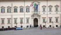 Italy, Lazio, Rome, Palazzo del Quirinale, official residence of the Italian President.