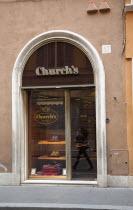 Italy, Lazio, Rome, Via del Condotti, Exterior of Church's English Shoes shop.