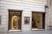 Italy, Lazio, Rome, Via del Condotti, Exterior of the Dolce and Gabbana shop.