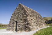 Ireland, County Kerry, Gallarus Oratory built by early Christian farmers between the 6th and 9th centuries.
