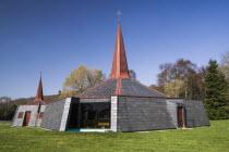 Ireland, County Kerry, Killarney, Modern Roman Catholic church at Fossa.
