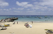 Cape Verde Islands, Sal Island, Santa Maria Beach.