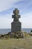 France, Brittany, Isle de Sein. Memorial commemorating the 128 islanders who fled imminent Nazi ocupation by fishing boat to join the Free French Forces in England in 1940.