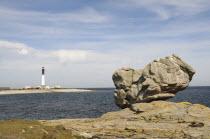France, Brittany, Isle de Sein, Phare Saint-Corentin, Lighthouse.