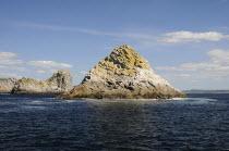France, Brittany, Les Tas de Pois, Pile of Peas, islets off the Pointe de Pen-Hir on the Presqu'ile de Crozon.