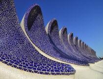 Spain, Valencia Province, Valencia, La Ciudad de las Artes y las Ciencias, City of Arts and Sciences, Arches of the Umbracle sculpture garden.