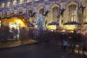 England, Hampshire, Winchester, Christmas market in the grounds of the Cathedral.