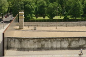 Germany, Berlin, Gedenkstatte Berliner Mauer also known as the Berlin Wall Memorial Exhibition at Bernauer Strasse, the memorial contains the last piece of Berlin Wall that has the preserved grounds o...
