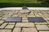 USA, Washington DC, Arlington National Cemetery, Grave of President JF Kennedy and his wife with eternal flame.