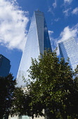 USA, New York, Lower Manhattan, One World Trade Center skyscraper, the tallest building in the city.