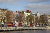 Ireland, Dublin, North side of River Liffey viewed from the Temple Bar side.