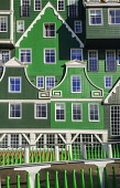 Netherlands, Noord Holland, Zaandam, A section of The Inntel Hotel whose construction design is based on the  traditional house facades of the Zaan Region.