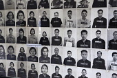 Cambodia, Phnom Penh, Photos of victims, Toul Sleng Genocide Museum S-21. Toul Sleng was a high school, taken over by the Khmer Rouge and turned into a prison, where people were tortured and murdered.
