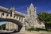 Ireland, Dublin, Dublinia Arch leading to Christchurch Cathedral.
