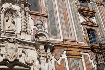 Spain, Andalucia, Cordoba, Detail of the Antiguo Convento de la Merced.