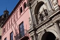 Spain, Andalucia, Granada, The facade to the Colegio Mayor de San Bartolome y Santiago.