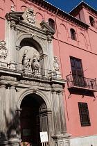 Spain, Andalucia, Granada, Facade to the Colegio Mayor de San Bartolome y Santiago.