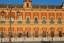 Spain, Andalucia, Seville, Facade of the Palacio de San Telmo.