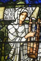 Scotland, Edinburgh, St Giles' Cathedral, Burne-Jones stained glass window .