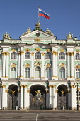Russia, St Petersburg, The Winter Palace, Hermitage Museum, from Palace Square.