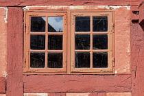 Denmark, Aarhus, Window of the Customs House, Den Gamle By.