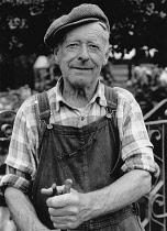 Wales, Powys, Llanymynech, Portrait of Welsh farmer.