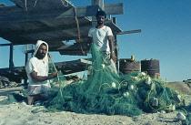 Qatar, General, Fishermen with nets.