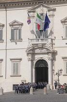 Italy, Lazio, Rome, Quirinal Hill, changing of the guard ceremony, Piazza del Quirinale.