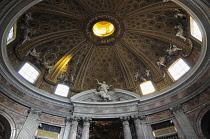 Italy, Lazio, Rome, Quirinal Hill, chucrh of Sant'Andrea al Quirinale, Bernini's stucco dome interior.