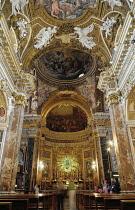 Italy, Lazio, Rome, Quirinal Hill, church of Santa Maria della Vittoria, Baroque interior.