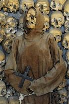 Italy, Lazio, Rome, Quirinal Hill, church of Santa Maria della Concezione, macabre shrine.