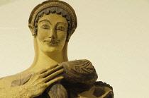 Italy, Lazio, Rome, Villa Borghese, Villa Giulia, statue of Latona with a young Apollo.