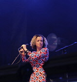Music, Vocals, Folk singer Kate Rusby at the 2018 Fairport's Cropredy Convention.