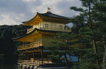 Japan, Honshu, Kyoto, Kinkakuji Temple or Golden Pavilion .