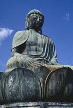 Japan, Nagoya, Large seated Buddha statue.