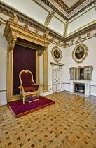 Ireland, County Dublin,  Dublin Castle, The Throne Room.