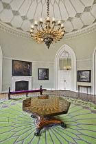 Ireland, County Dublin,  Dublin Castle, The Gothic Room.