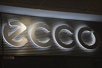 Germany, Berlin, Mitte, Ecco shoe shop sign.