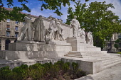 Hungary, Budapest, Hungarian Parliament grounds, Memorial to Lajos Kossuth leader of  the 1848 Revolution.