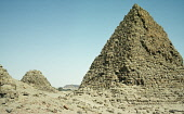 Sudan, Nuri, El Nuri pyramids on the West bank of the Nile  burial place of twenty-one kings and fifty-two queens and princes.