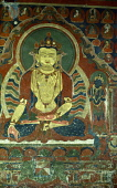 India, Ladakh, Phyang Gompa, Wall panel painting of the Enlightenment.