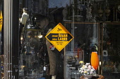 England, East Sussex, Lewes, Liberal Democrat election poster in shop window, Janet Baah and John Lamb, 2nd May 2019.